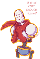 tumblr ask #1: Cute Papyrus by Kaweii