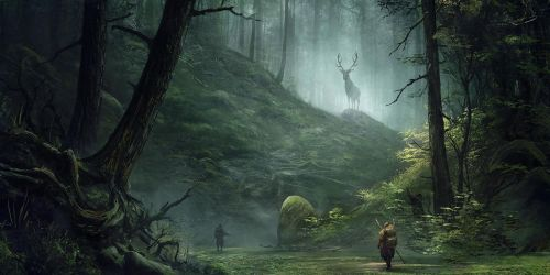 Meeting in the wood - Journey series by Sergey-Averkin