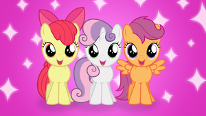 Excited Cutie Mark Crusaders Wallpaper by thatguy1945