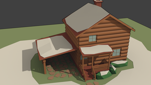 3Dcember - Day 1 - house by Daragos90