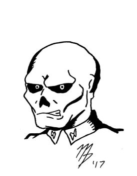 Red Skull Sketch Card by TalisonComics