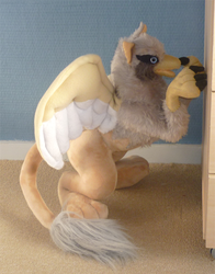 Griffin plush: finished by CyanFox3