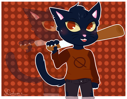 ~Mae/ Night in the woods by Nini-the-inkling