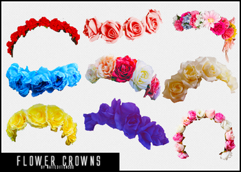 +87 Flower Crowns (png) by natieditions00