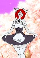 Cherry Blossom Maid by SageStrike2 Colored by MrAM by MrAMP