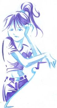 blue girl by renatothally