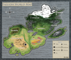 Faelidh World Map by Verlidaine