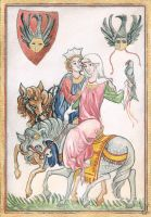Medieval greeting card by Toradh