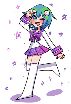 Earth-chan by sushiining