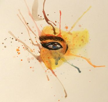 My first (good) watercolor eye!!! by sabrinacurtis582
