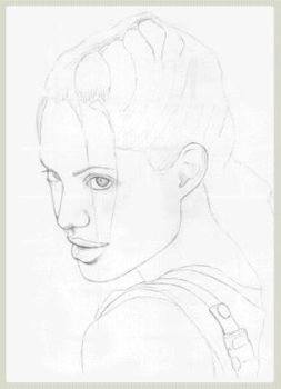 Lara Croft AJ portrait making by redfill