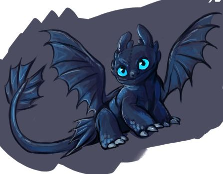 baby toothless by saeto15