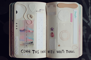 Wreck This Journal: Page 92, 93 by MichaelaKindlova