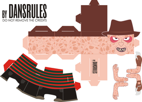 One, Two... Freddy Paper Toy Is Coming For You! by dansrules