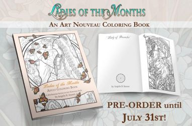 Ladies of the Months Coloring Book PRE-ORDERS OPEN by AngelaSasser
