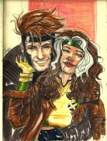 Gambit and Rogue by Hydraballista