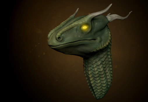 Dragon Sculpt by cryingunderwater