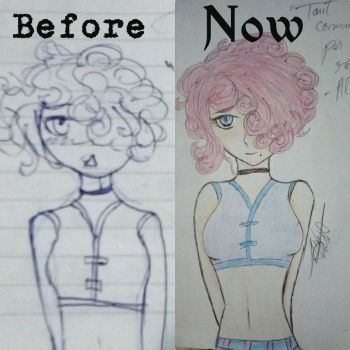 Redrawing my old art (Alleffra) #3 by HomicidalThoughts