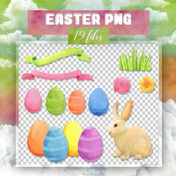 PNG PACK #20: Easter (watercolor) by lollipop3103