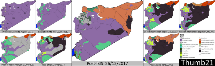 History of the Syrian Civil War info-graphic map by Thumboy21