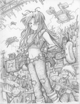 Ph33r T3h Cute On3s - Mopping Up (Pencil) by fredrin