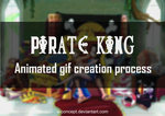 Pirate King (cartoon style) - gif process by S-concept
