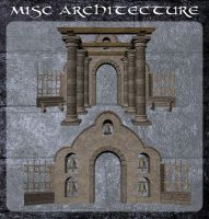 3D Misc Architecture 7 by zememz