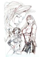 Tifa, Yuffie, and Aeris by takkless