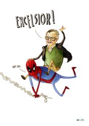 Stan Lee and Spidey by dsb