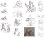 Warcraft Sketch Dump by Hybridlizard
