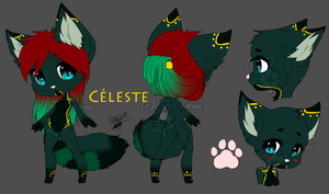 Cleste reference sheet by WhiteWolfTikaani