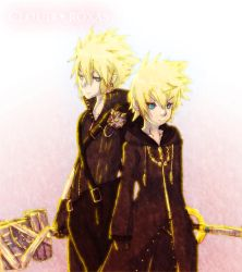 Cloud and Roxas by Gamubear