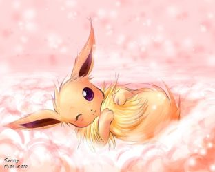 Eevee .:Tail Hug:. by sunshineikimaru