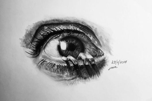 'Eye See You' Pencil Drawing by lanciii