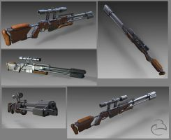 Concept rifle test renders by Peet-B