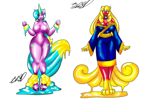 The pets to the Slime Sisters (Anthro Form) by Ogihci2