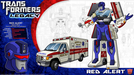 Transformers Legacy: Red Alert by CyRaptor
