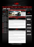 Visual Zone Gaming Website by zblowfish