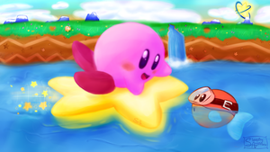 Kirby's Float Ride by SleepingAmbitions