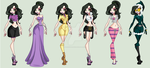 Belle S1 Outfits by MaliceInTheAbyss