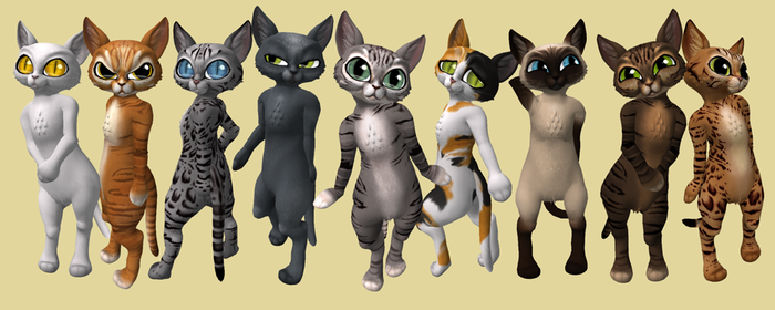 Lil' Kitty Avatar Varieties by bugtrot