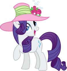 Rarity in a pink hat by CloudyGlow