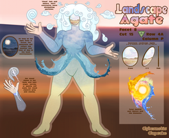 SU Gem OC Reference - Landscape Agate by CyberneticCupcake