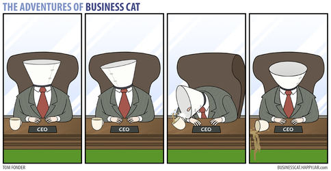 The Adventures of Business Cat - Cone by tomfonder