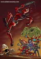 Deadpool vs Marvel Zombies by DadaHyena