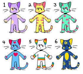 Cat Adopts (2/6 OPEN) (Points + PayPal) by TabbyPiggy