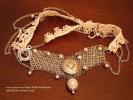 Pearl, Maille, and Lace Necklace (ph.shoot 1) by ulfchild
