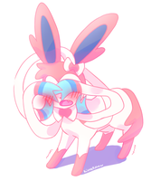 A shy sylveon by Kittermew