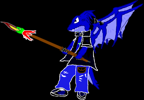 Me With a Spear by BluDragoon