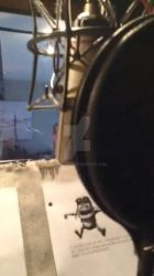 NYC recording booth Mic and scripts - Pomann Sound by Spyro1267